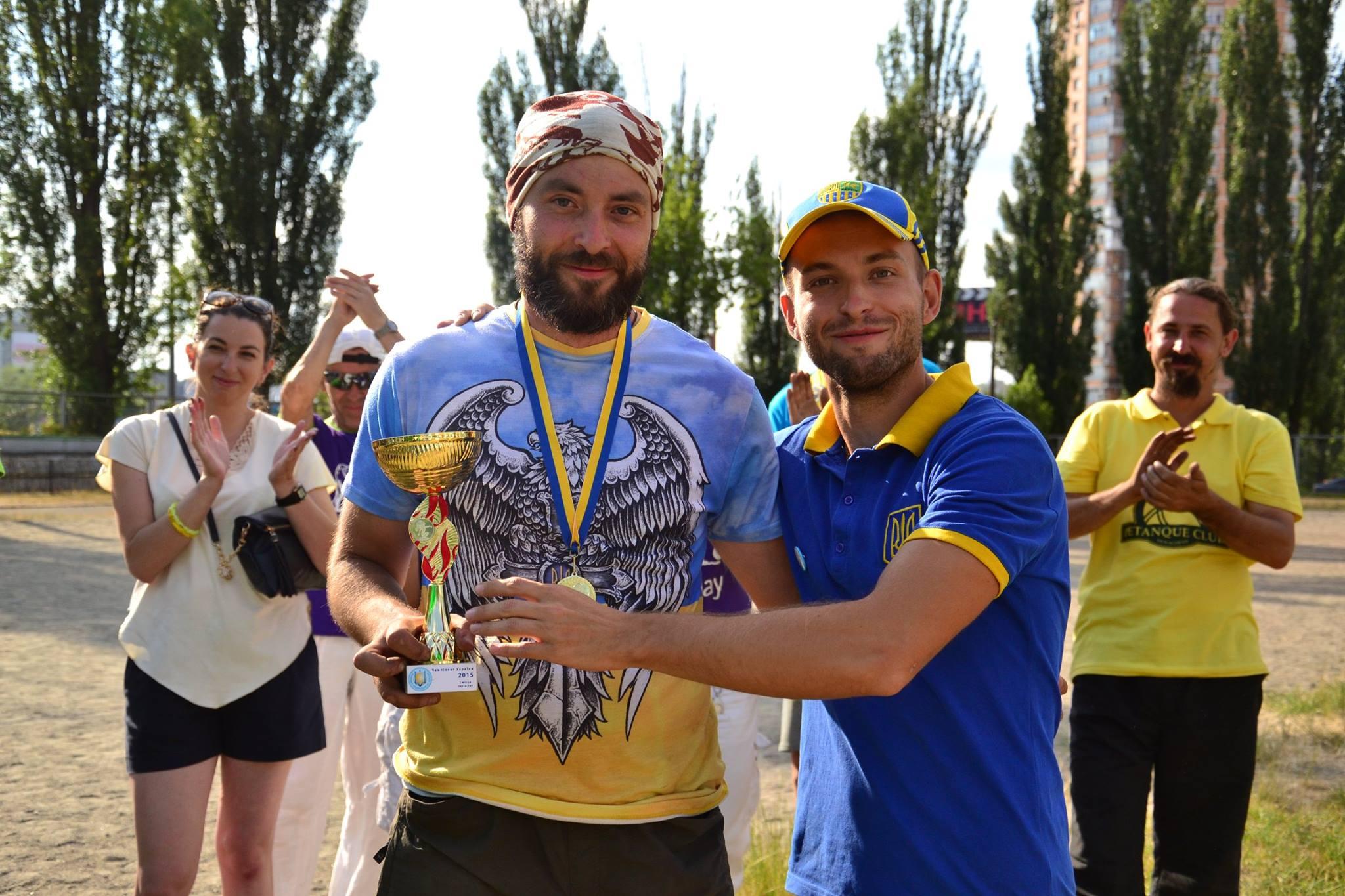 Сергій Денисенко — чемпіон України з петанку 2015
