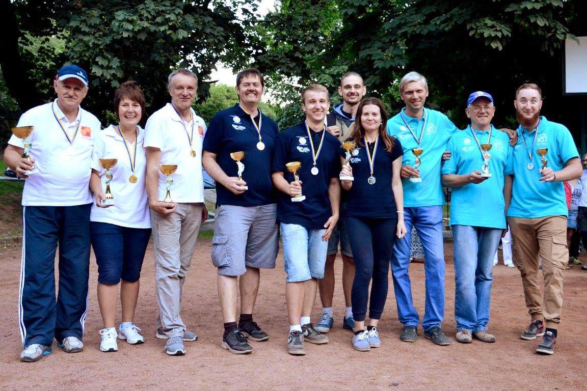 Призери Чемпіонату України з петанку в триплетах 2016